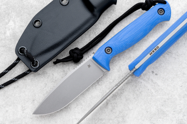 NECK EDC KNIFE MINI AGOR M390 G10 BLUE AK