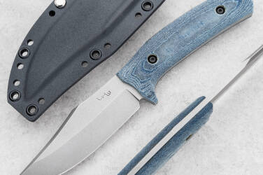 TACTICAL KNIFE CITI BOWIE BLUE MICARTA N690 LKW