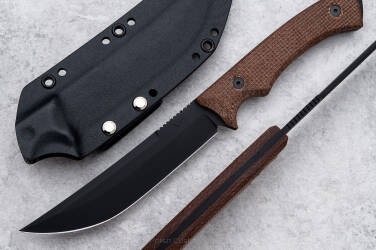 TACTICAL KNIFE PHANTOM BLACK LKW MICARTA