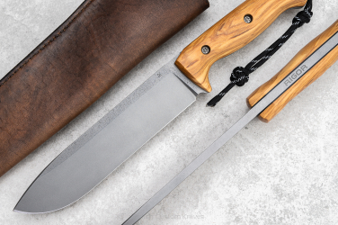 SURVIVAL KNIFE ODC 170 OLIVE WOOD RIGOR AK