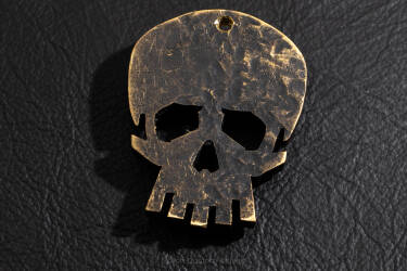 "Pendant ""Skull"" made of brass 2"