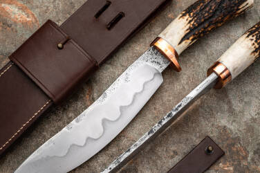 TACTICAL KNIFE HUNTERS BOWIE SELECTIVELY HARDENED