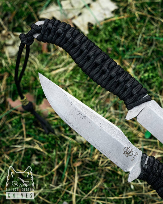 KNIFE PIKE BLACK PARACORD PRUCIAK