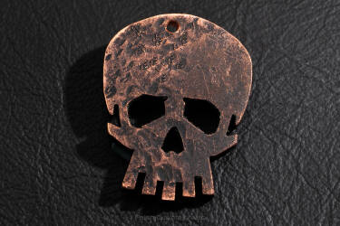 "Pendant ""Skull"" made of copper 1"