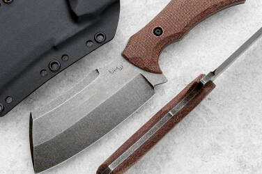 SURVIVAL KNIFE COMPACT BUTCHER MICARTA LKW