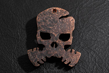 "Pendant ""skull COVID-19"" made of copper 4"
