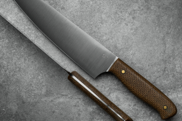 KITCHEN KNIFE CHEF AEB-L MICARTA NATURAL JUTE SJ