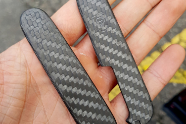 "Scales for 91mm Victorinox SAK ""Crest"" Beadblasted"