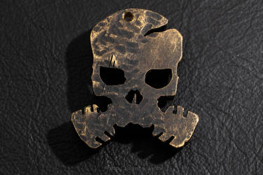 "Pendant ""skull COVID-19"" made of brass 3"