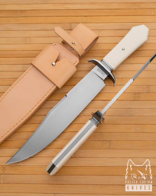 BIG TACTICAL KNIFE BOWIE BBB WROAN