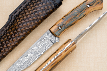 HUNTING KNIFE CLASSIC HUNTER 1 MAMMOTH DAMASTEEL