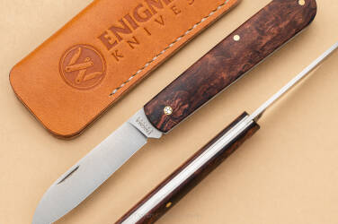 SLIPJOINT KNIFE ENIGMA KNIVES 13 WITH LEATHER POUCH