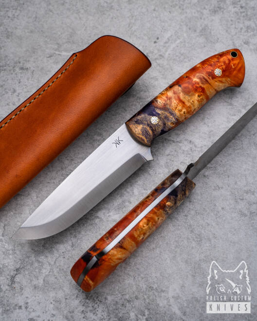 SURVIVAL KNIFE WOLVERINE 2 STABILIZED WOOD