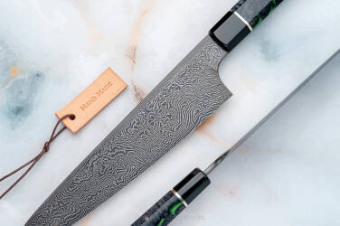 KITCHEN KNIFE GYUTO CHEF DAMASCUS 1