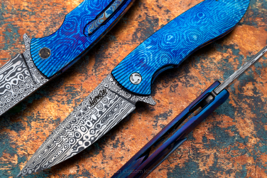 FOLDING KNIFE STING 1 TIMASCUS DAMASTEEL HERMAN